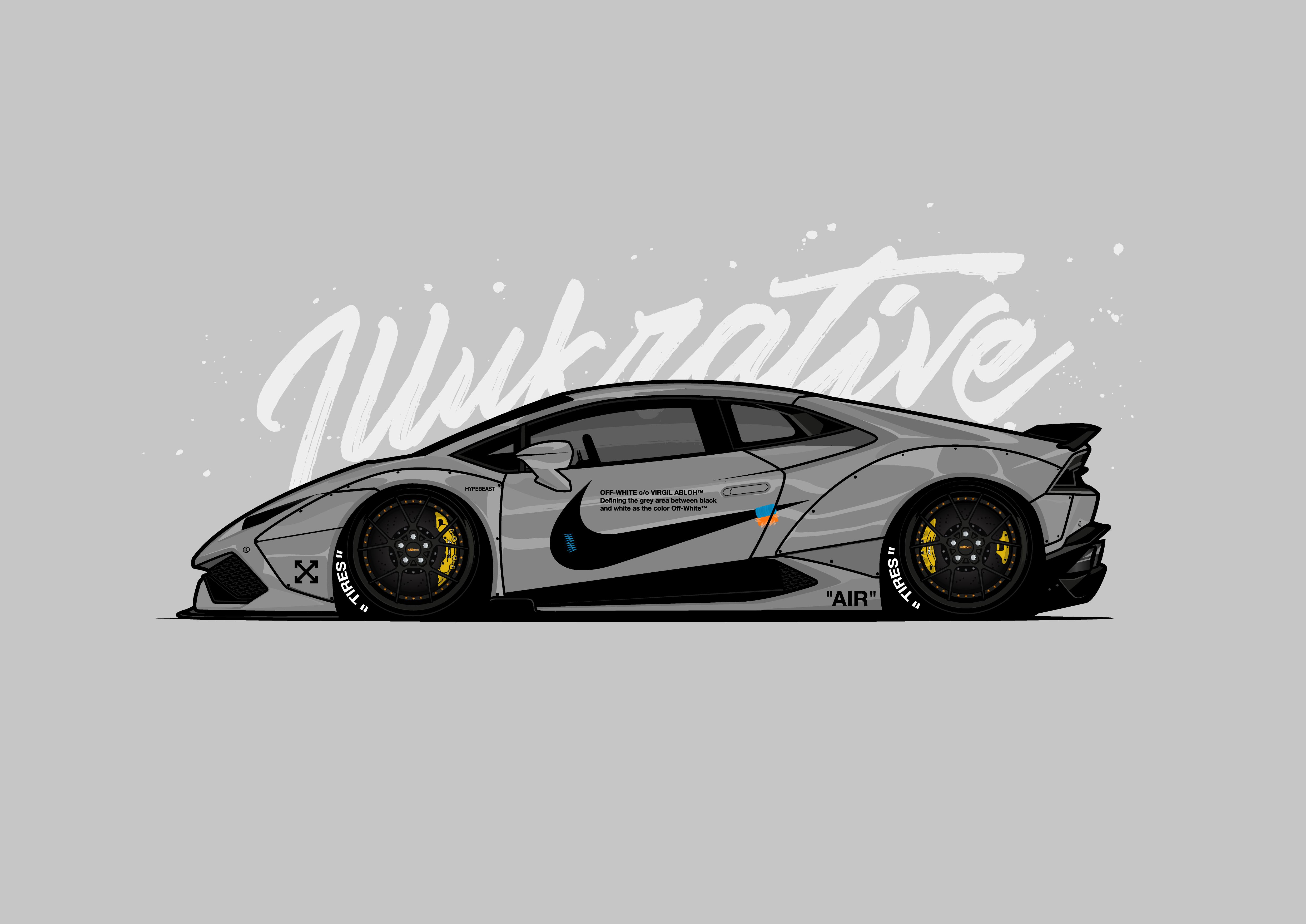 Off White Lamborghini Huracan